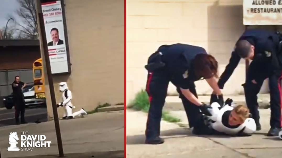 REAL Storm Troopers Beat Man Impersonating Storm Trooper