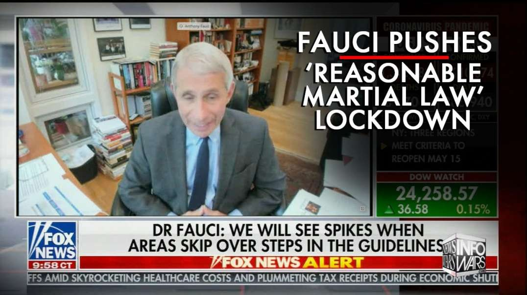 Fauci Pushes 'Reasonable Martial Law' Lockdown