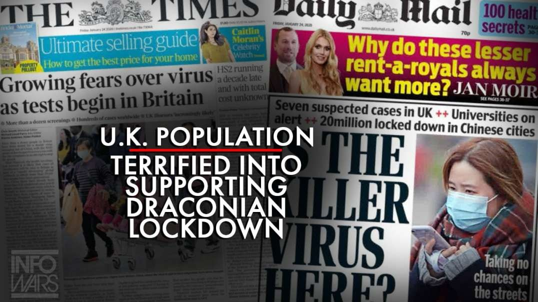 U.K. Population Has Been Terrified Into Supporting Draconian Lockdown