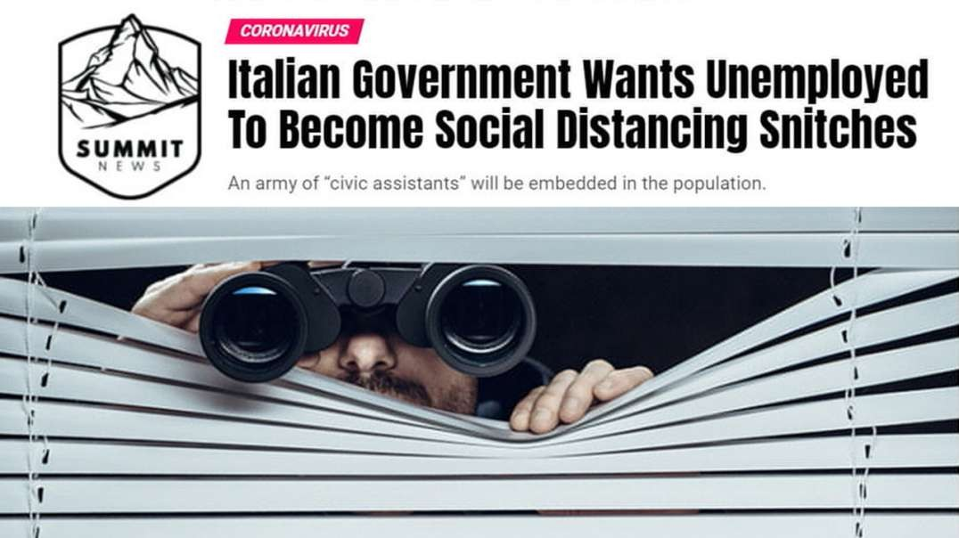Italian Government Wants Citizens To Become Social Distancing Snitches