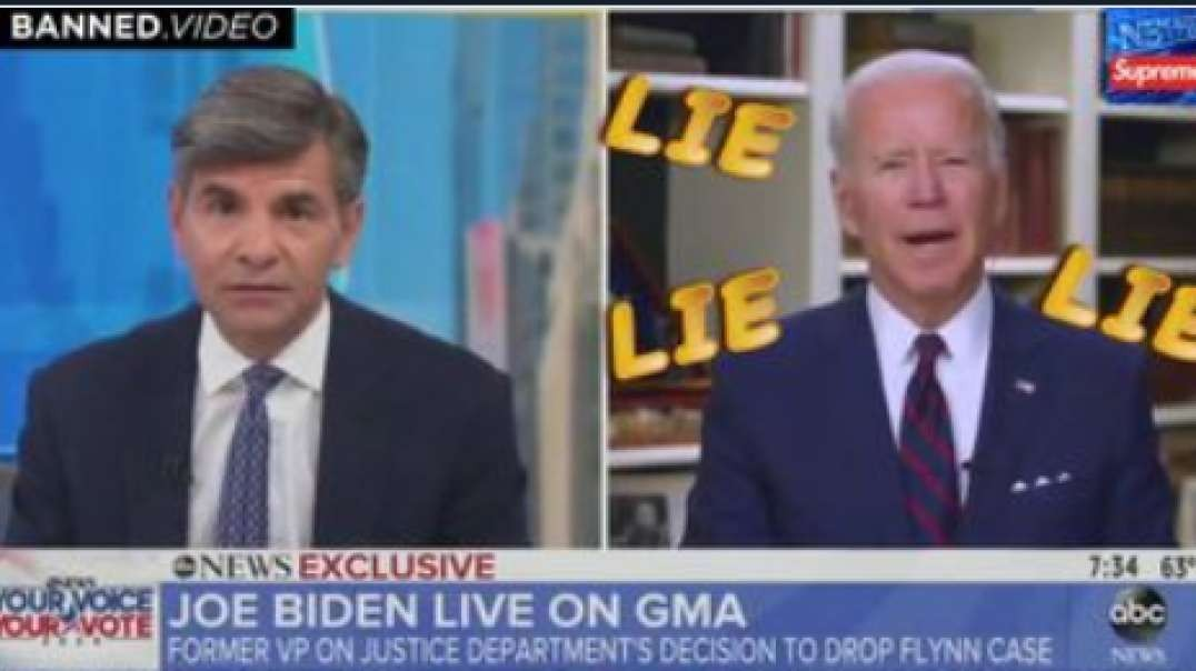 Joe Biden Caught Lying 3 Times In One Interview About The General Flynn Investigation