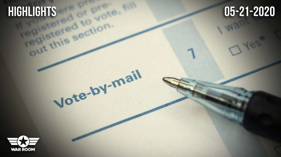 HIGHLIGHTS - Vote By Mail Will Be Used To Make Sure Republicans Never Win Again