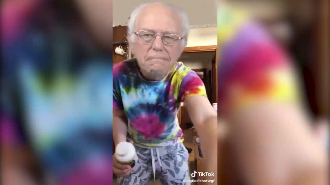 Bernie drops out, in bizarre video