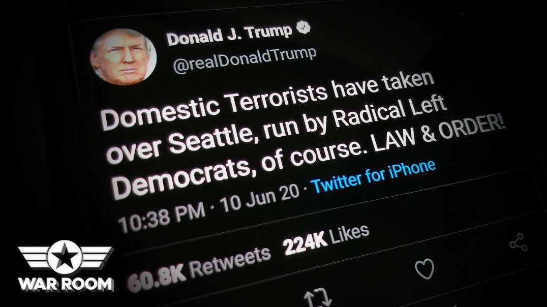 President Trump Shows Support For Domestic Terrorists In Seattle