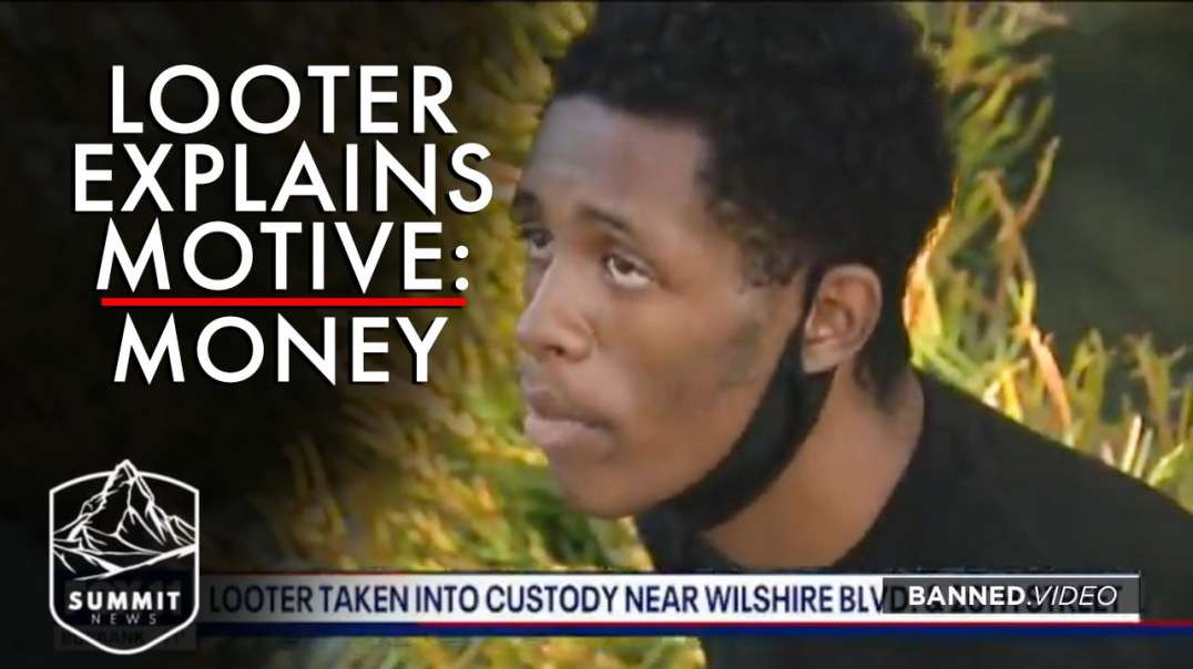 Looter Explains His Motive: Money