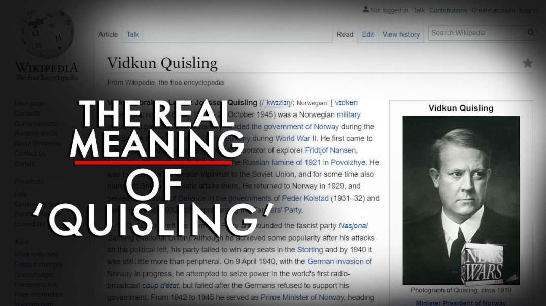 The Real Meaning of the Term Quisling