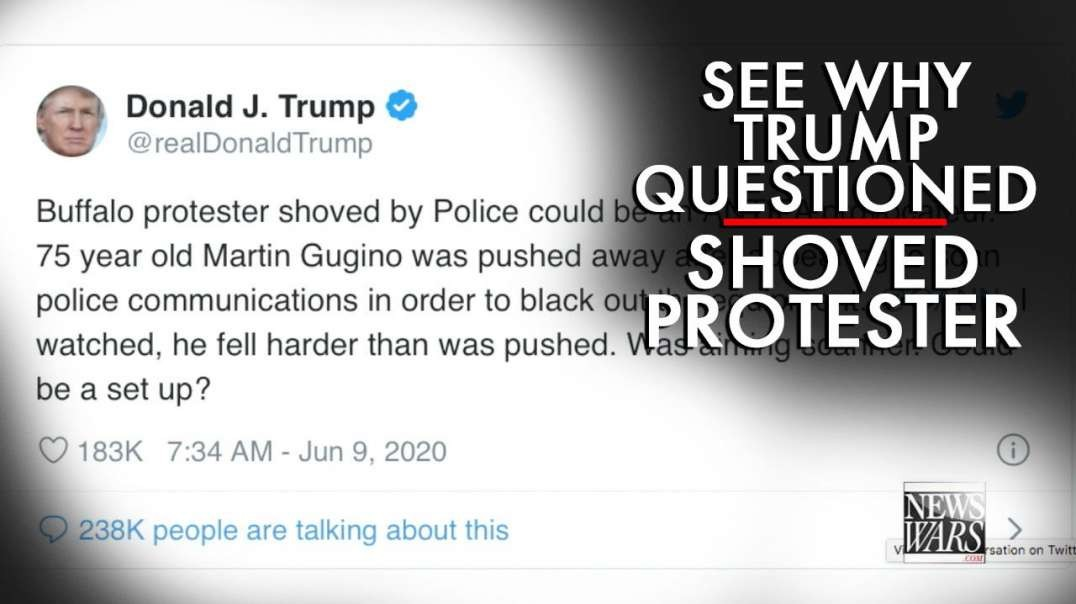 Video: See Why Trump Questions Old Man Shoved By Police