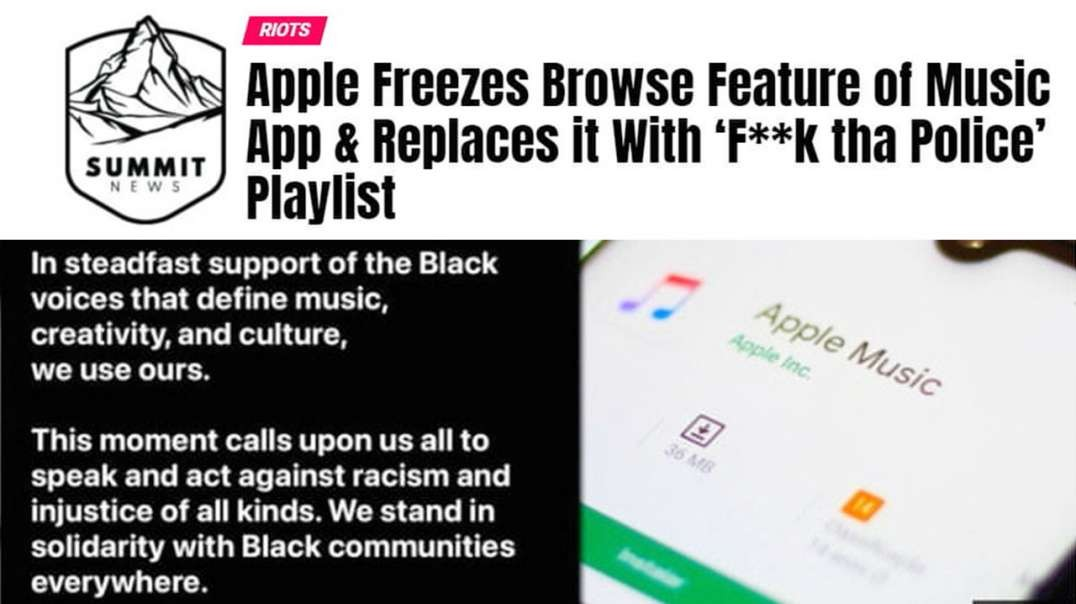 Apple Promotes Song About Killing Police