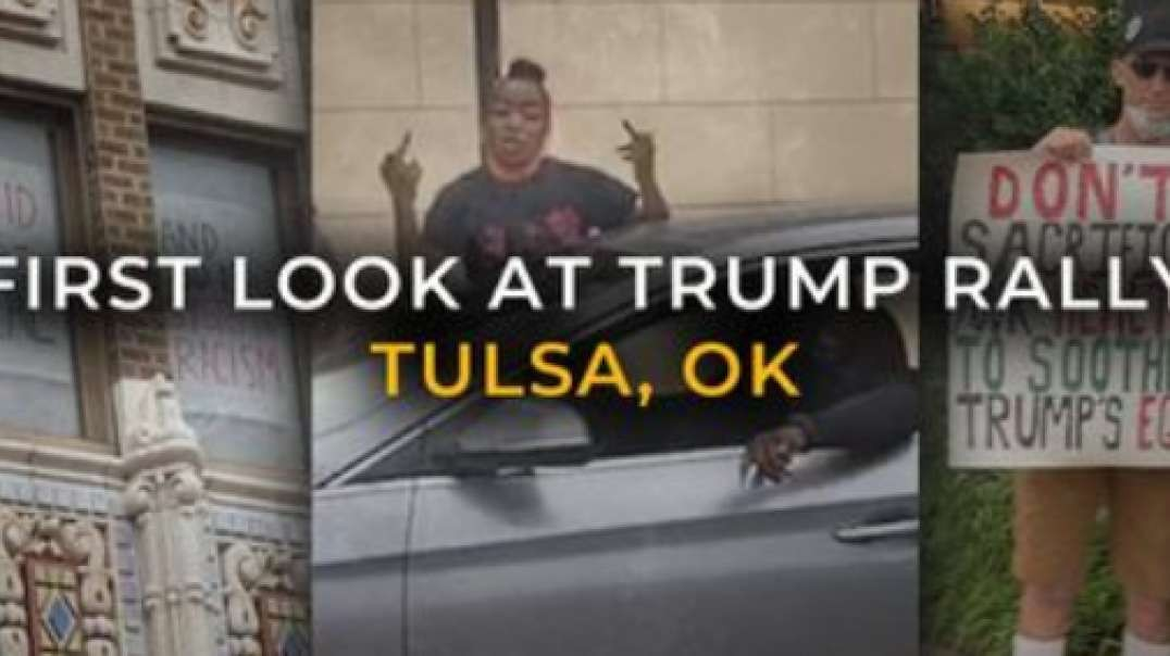 First Look: Hundreds Gather Ahead Of Tulsa Trump Rally