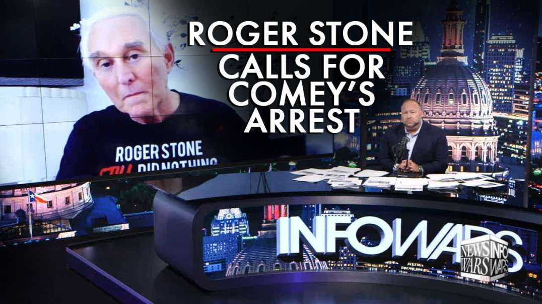 Roger Stone Calls For Comey's Arrest in First In-Depth Interview After Trump Commutation