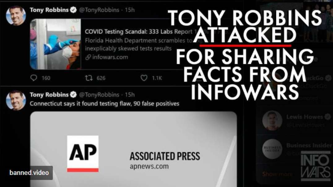 Tony Robbins Shares Facts From Infowars, Gets Attacked By Leftist Mob