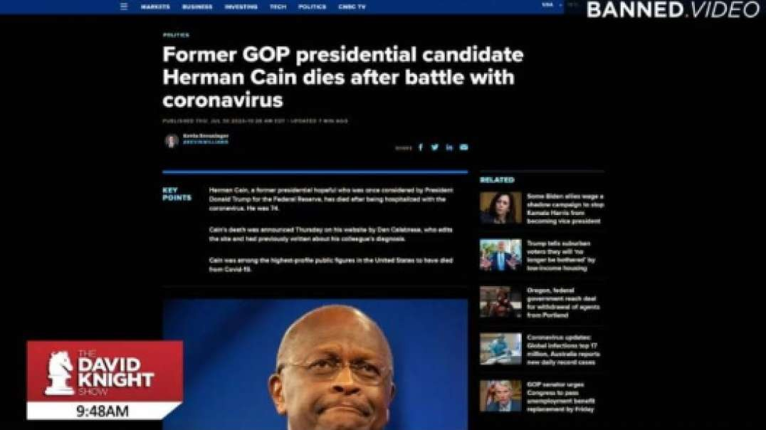 Rest In Peace Herman Cain: Death By Covid Or Ventilator?