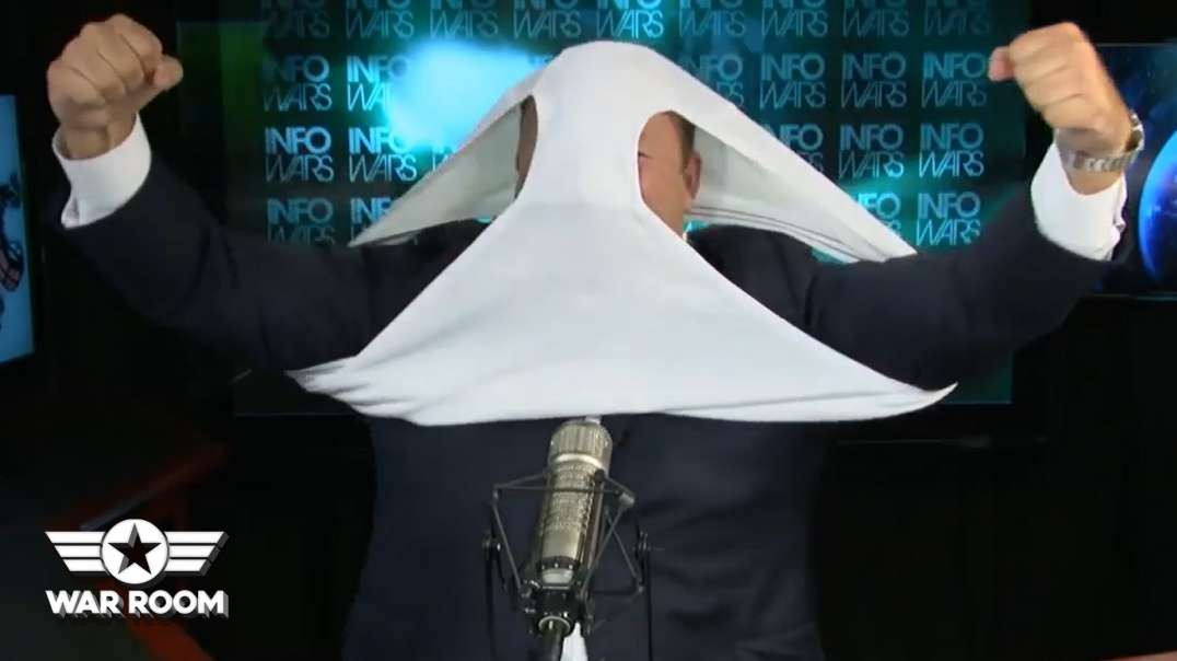Alex Jones Puts Underwear On His Head To Fight COVID