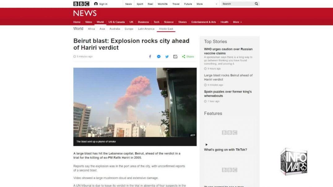 Beirut Blast Ruled Not Terrorist Attack: Alex Jones Reads Top Headlines