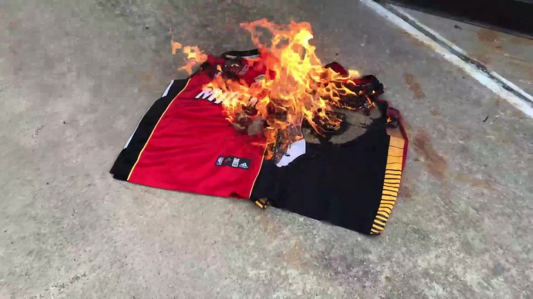 American Burns Lebron James Jersey After He Comes Out As A Communist