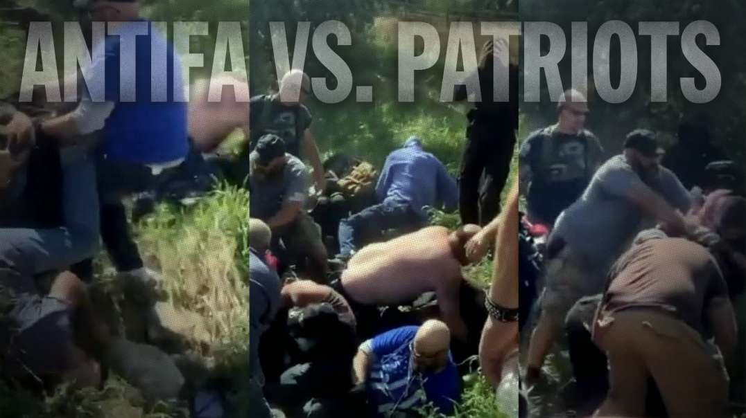 ANTIFA Chased Into A Ditch By Patriots In Colorado