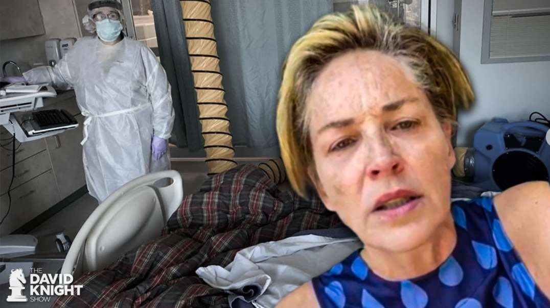 "Pantyless Sharon Stone Shames Maskless ""Refuseniks"""