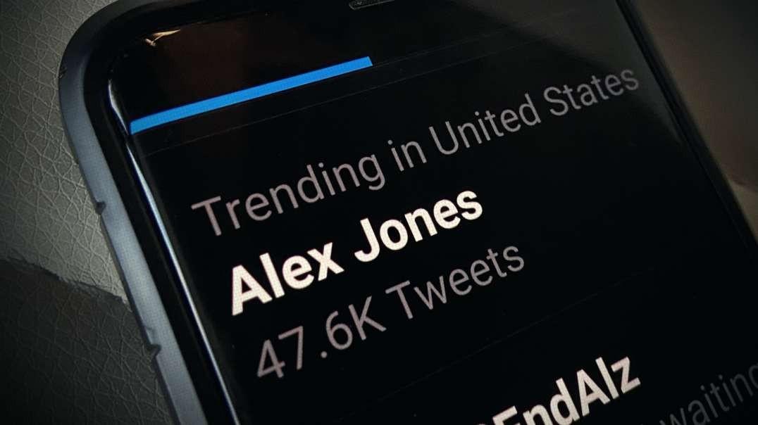 Alex Jones Responds To Trending Number One On Twitter