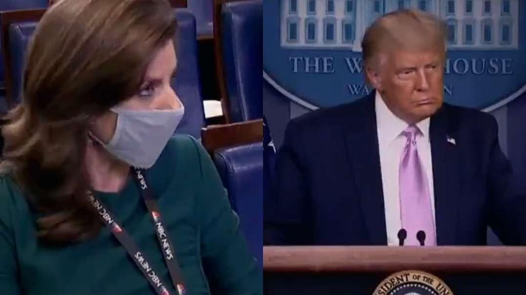 Reporter Asks Trump About QAnon