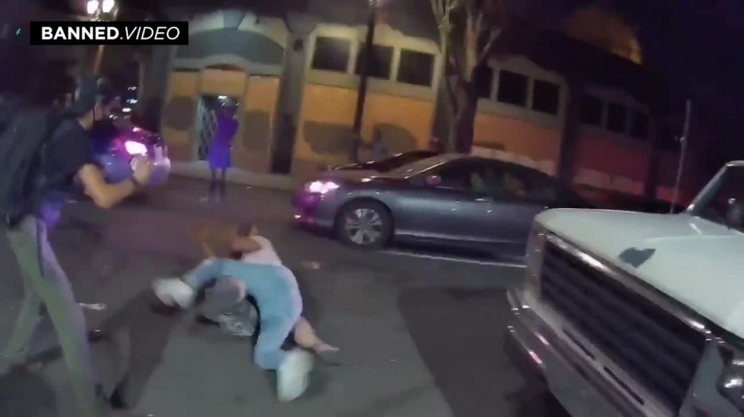 BLM Thugs Kick Man In Head / Attack Women And Ransack Truck