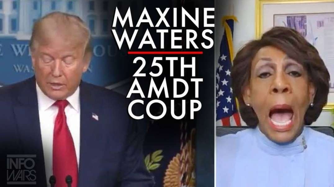 Video: Maxine Waters Announces 25th Amdt Coup Against Trump
