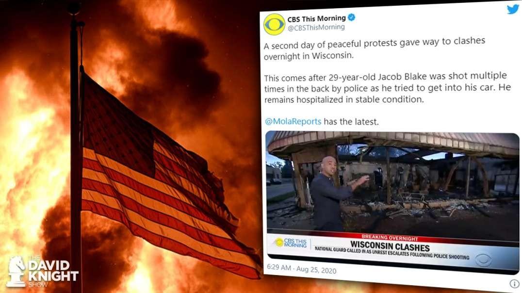 Riots, Fires? CBS, CNN Spin Their Lies