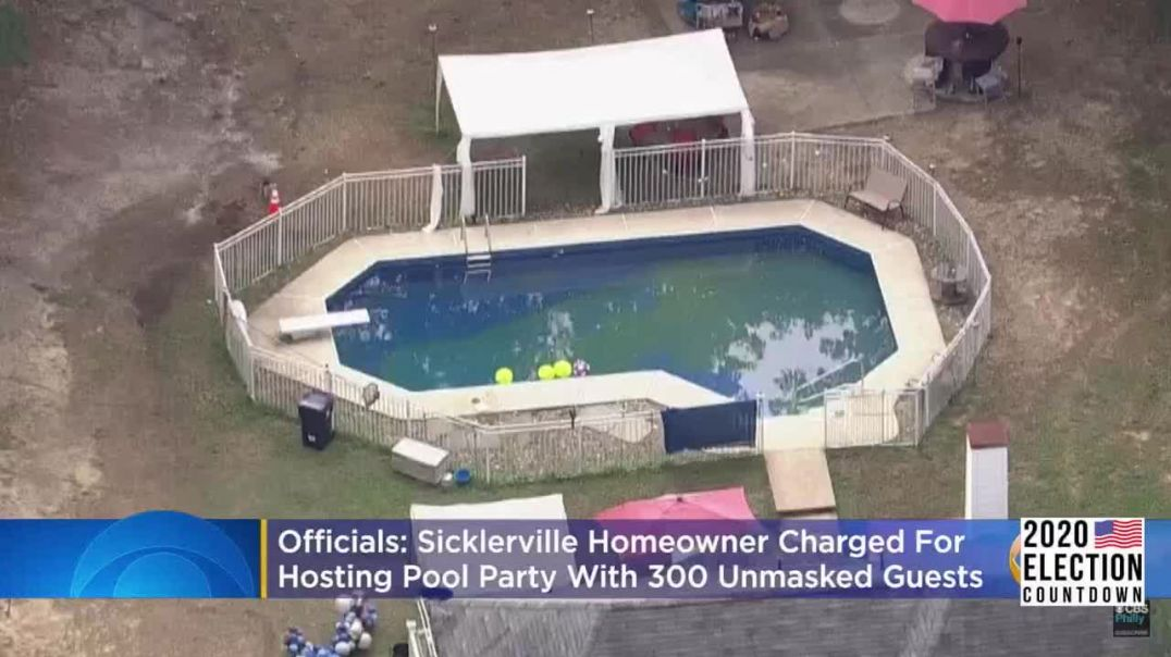 NJ Homeowner Charged for Hosting Pool Party With Guests Not Wearing Masks