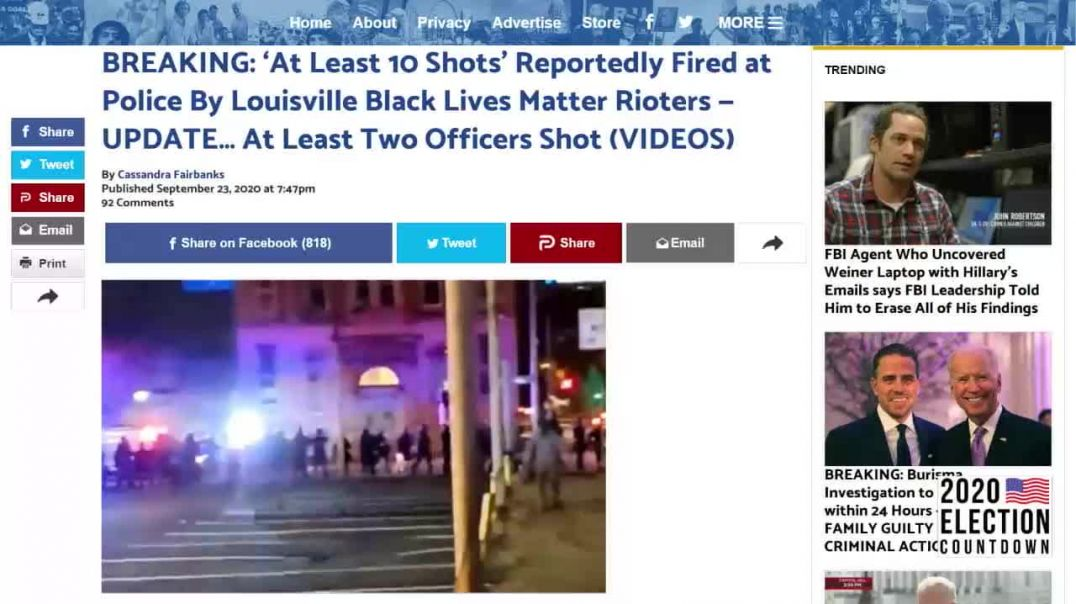 Shots Fired In Louisville As Democrat Riots Erupt Across America