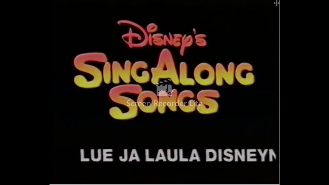 Disneys Sing Along Songs Aladdin (1994) VHSRIPPEN (Finska) Trailer (4K)