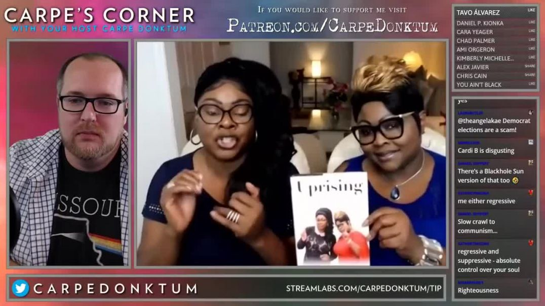 Carpe's Corner Episode 00016 with guest Diamond and Silk