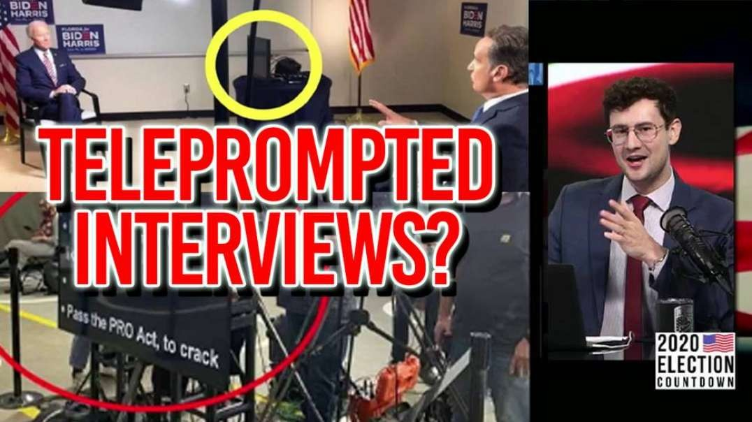 Biden Caught Using Teleprompter During One On One Interview