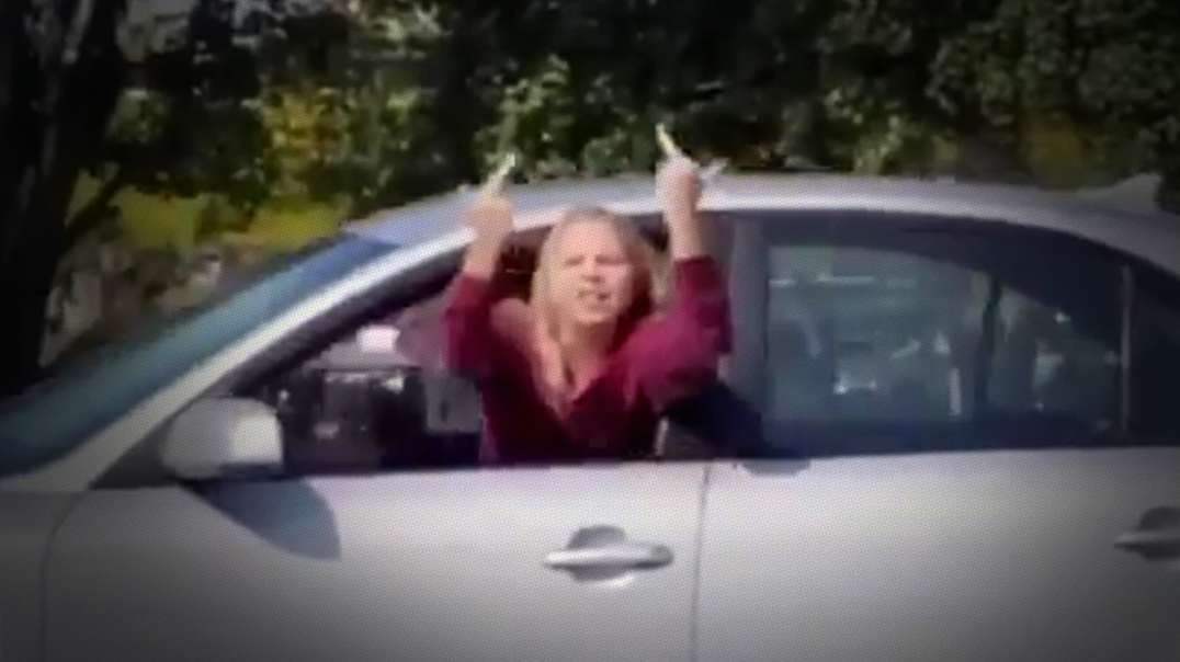 Woman Crashes Car While Yelling At Trump Supporters