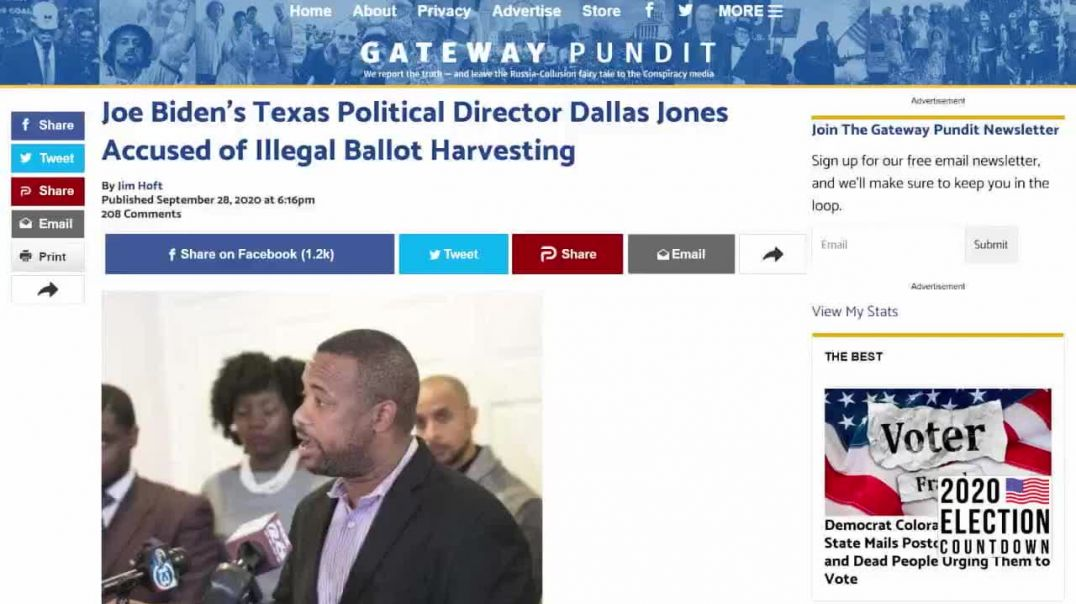 Texas Democrat Caught On Film Illegally Ballot Harvesting