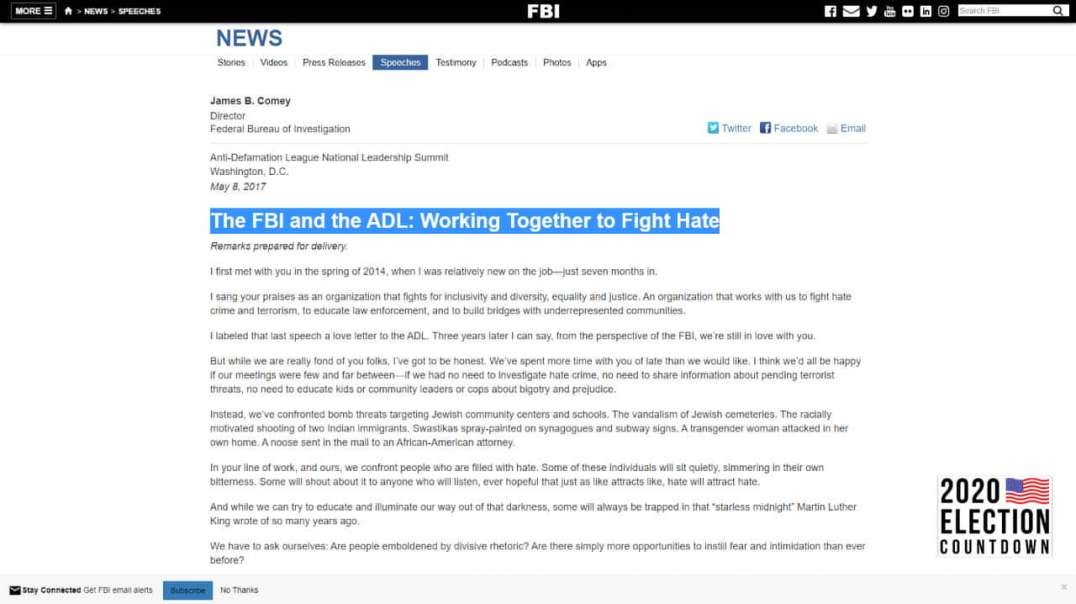 The FBI And ADL Are Run By Racist Hate Groups