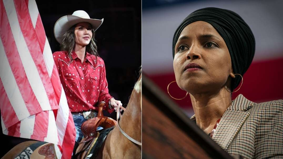 Republican Angel Kristi Noem Vs Democrat Demon Ilhan Omar