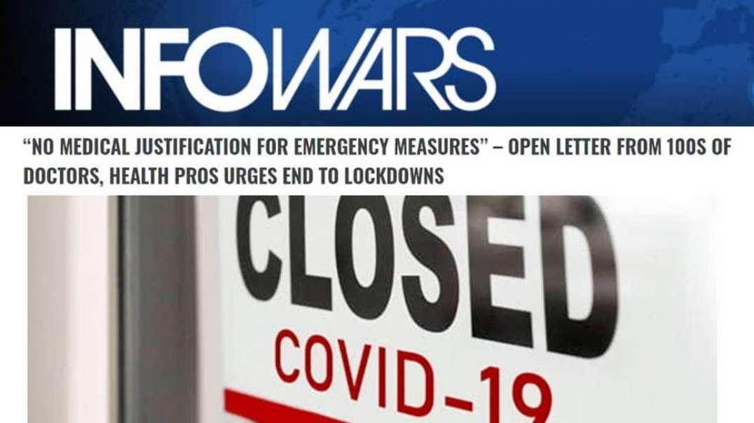 Doctors Demand End to Authoritarian Covid Lockdown