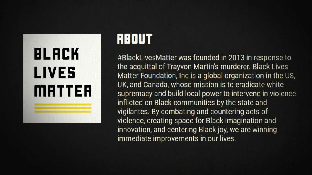 BLM Revises Mission Statement: Admits Their Anti-White Bigotry