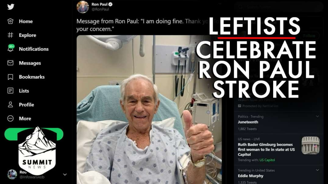 Twitter Leftists Celebrate Ron Paul Stroke