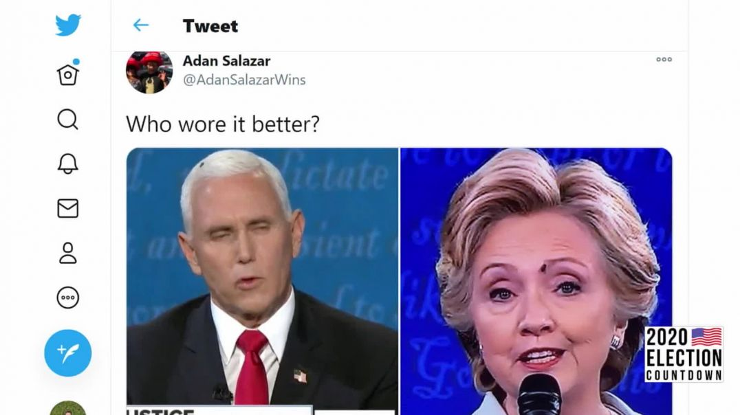 Pence Fly Landing Begs The Question- Who Wore It Better