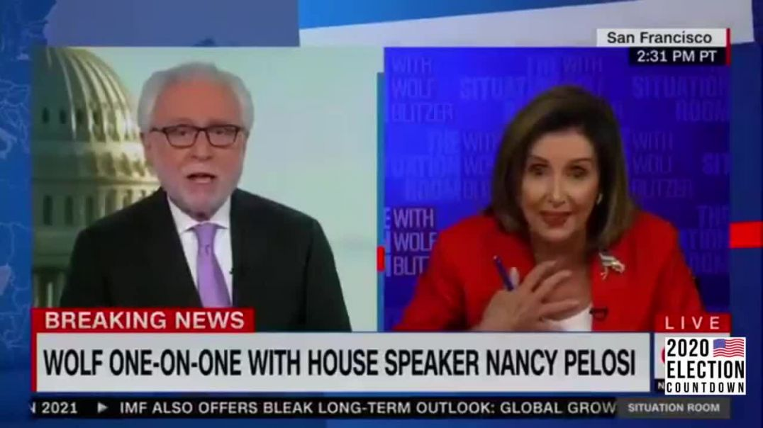 Nasty Pelosi LOSES IT on Wolfe Blitzer