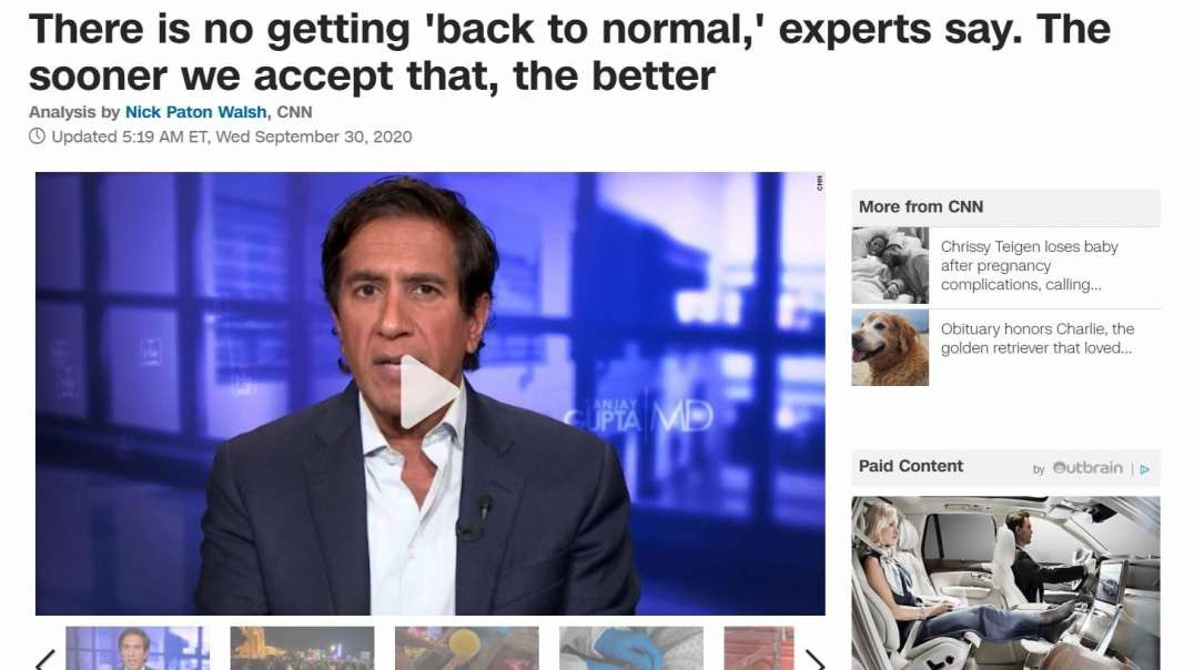 """CNN Says """"No Going Back to Normal""""; Why Are Only """"Five Eyes"""" Countries Escalating Tyranny?"""