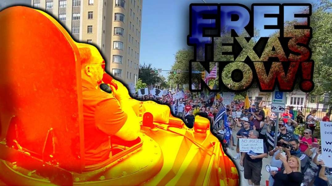 Texans Surround Governor Abbott's Mansion Demand End To Covid Tyranny