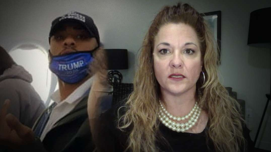 Lady Who Filmed Man Kicked Off Flight For Wearing Trump Mask Speaks Out