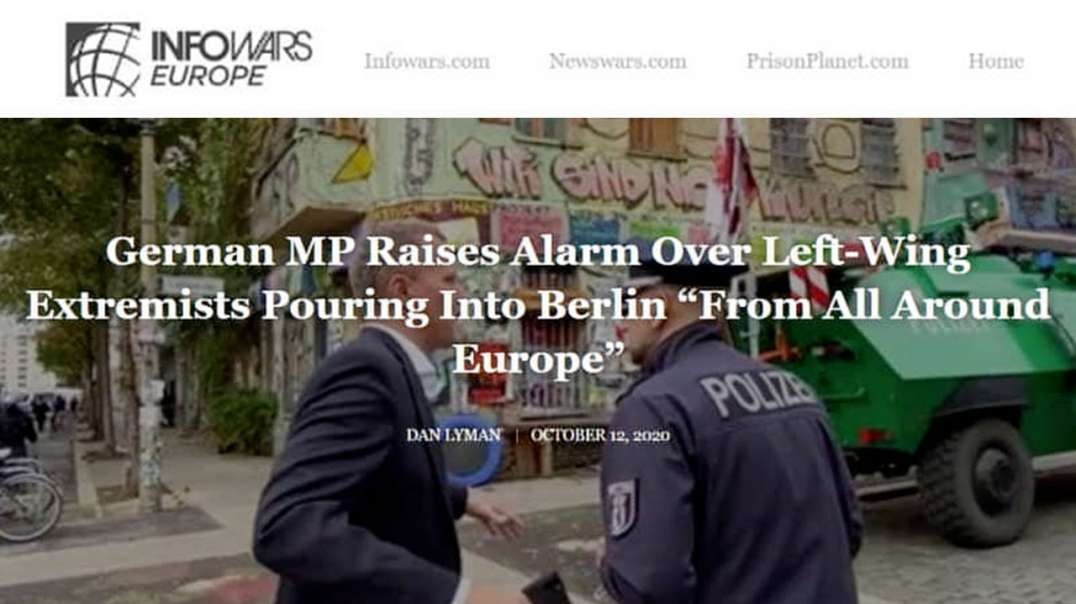 Global Exclusive: Watch German Police Raid Antifa Stronghold