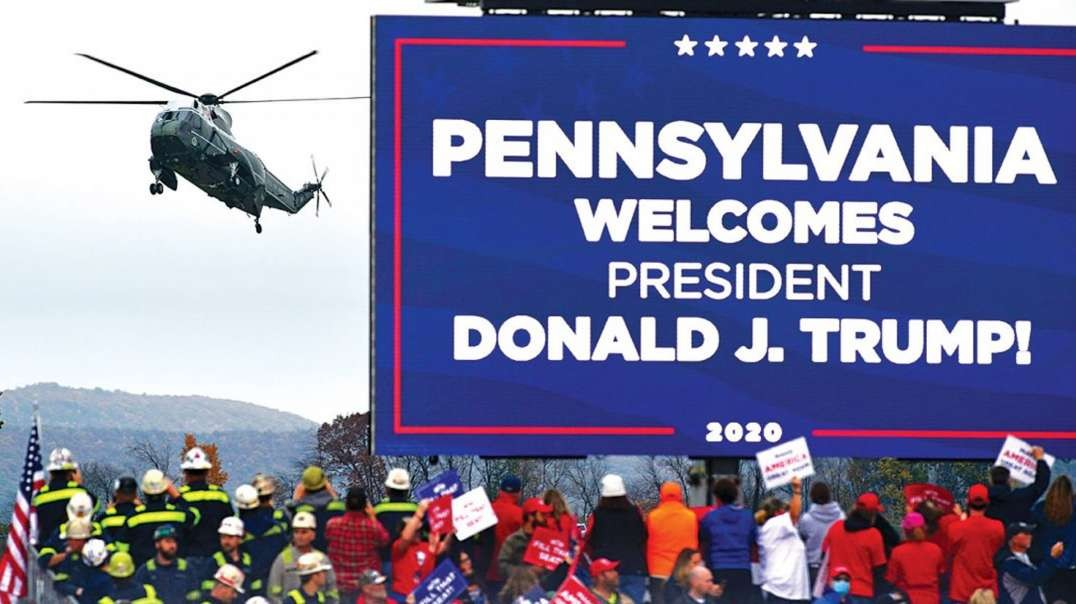President Trump Warns America Democrats Are Trying To Steal Pennsylvania