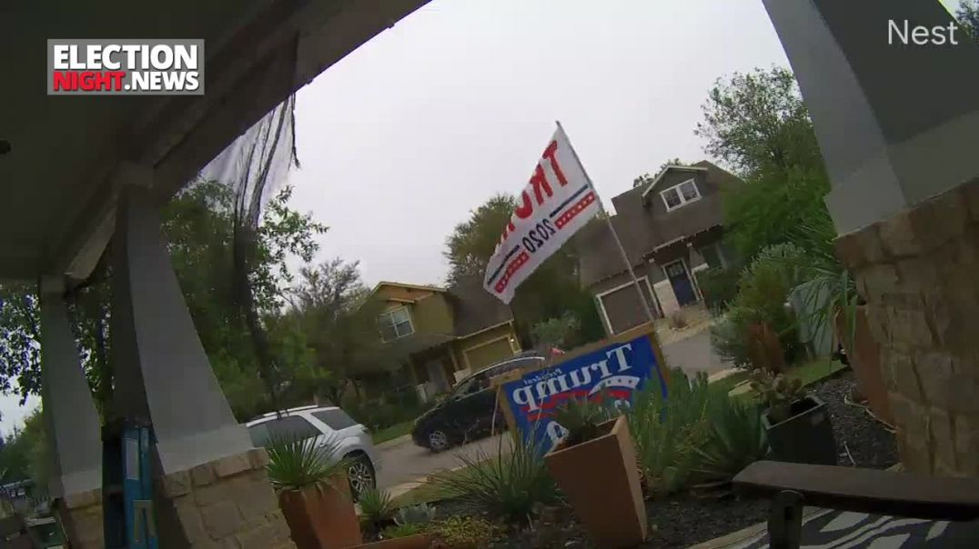 Unhinged Caught On Camera: Man Repeatedly Yells At Neighbors Trump Signs