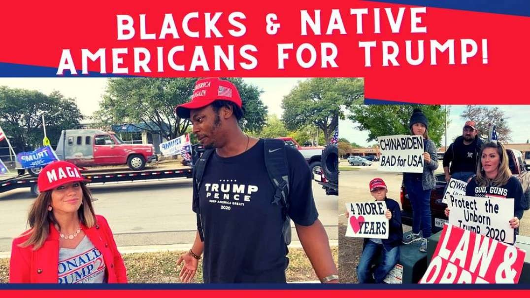 Native Americans, Blacks & Minorities for Trump! Huge Trump Train in Cedar Park, Texas!
