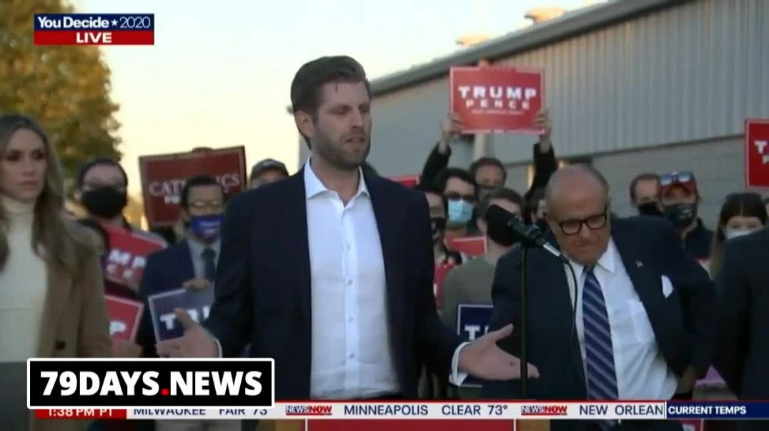 Eric Trump and Rudy Giuliani Try To Stop The Steal In PA