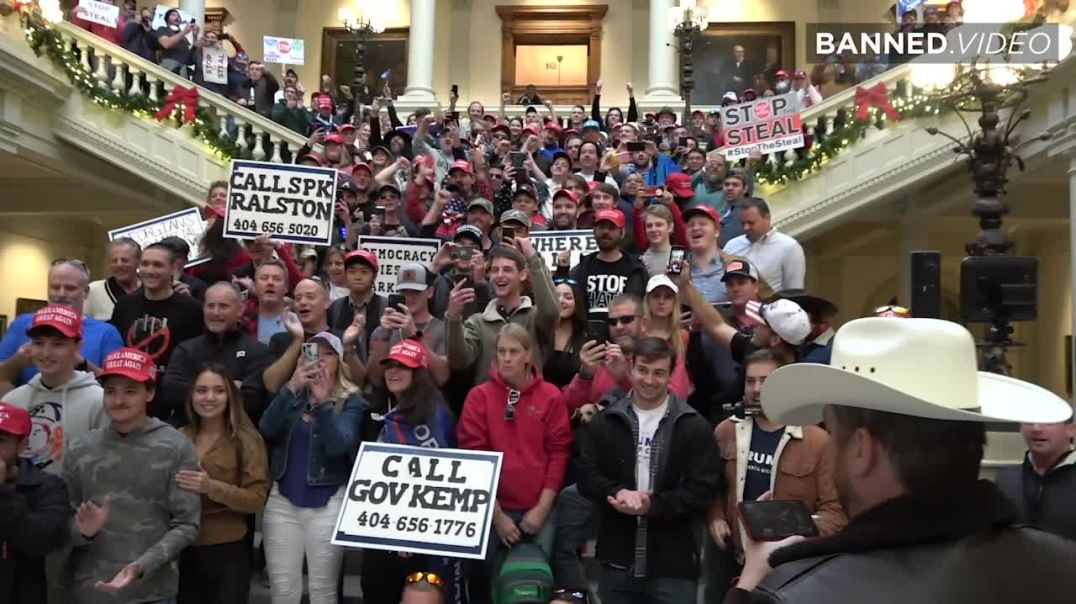 Patriotic Trump Supporters Assemble Inside Georgia's Capital To Stop The Steal