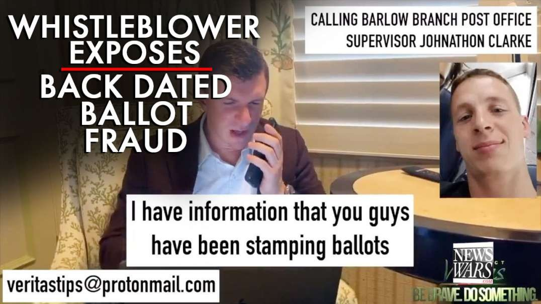 Whistleblower Exposes Back Dated Ballot Fraud
